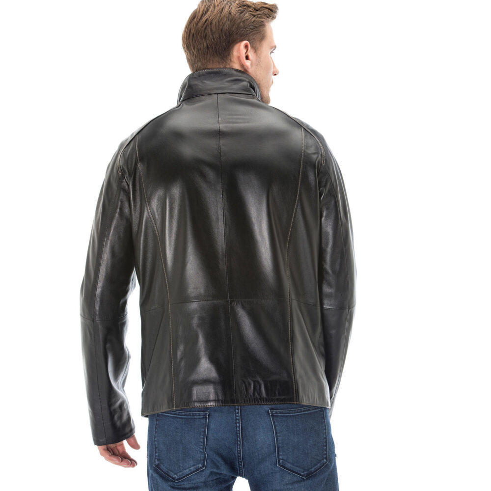 Mens Black Patent Leather Jacket