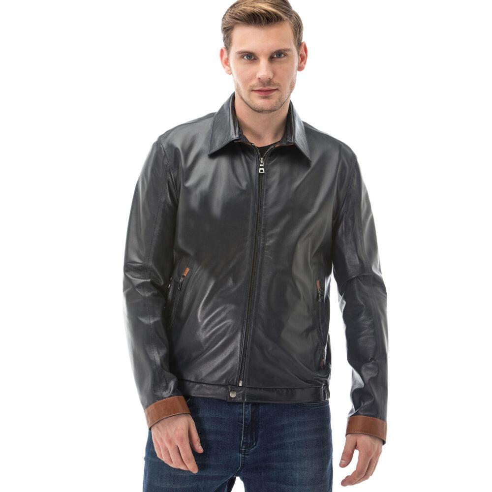 Genuine Leather Aviator Jacket
