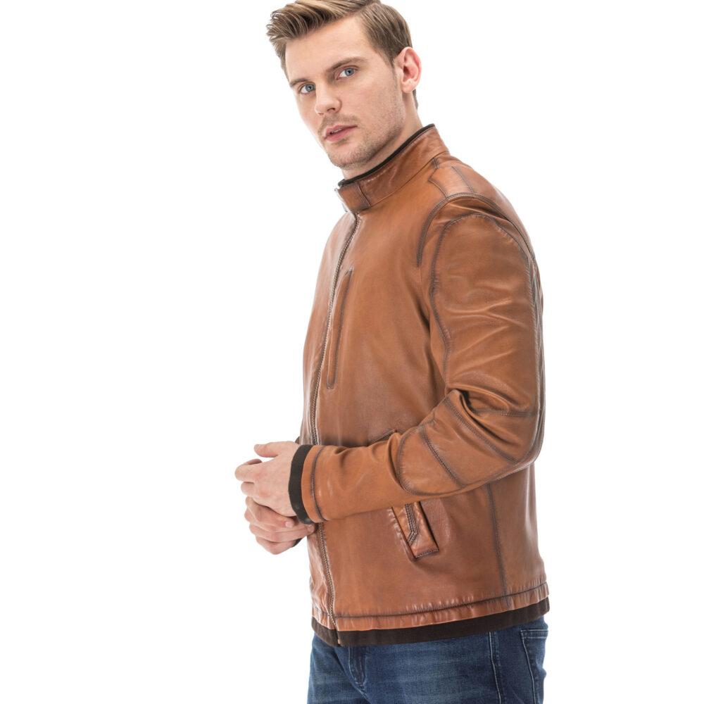 Tan Leather Jacket Mens