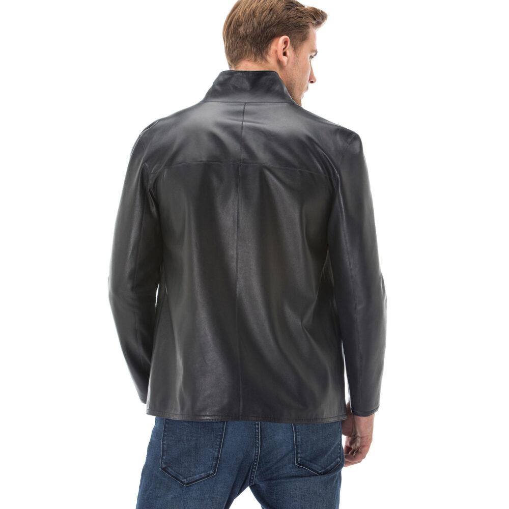 Men's Mid Length Leather Jacket