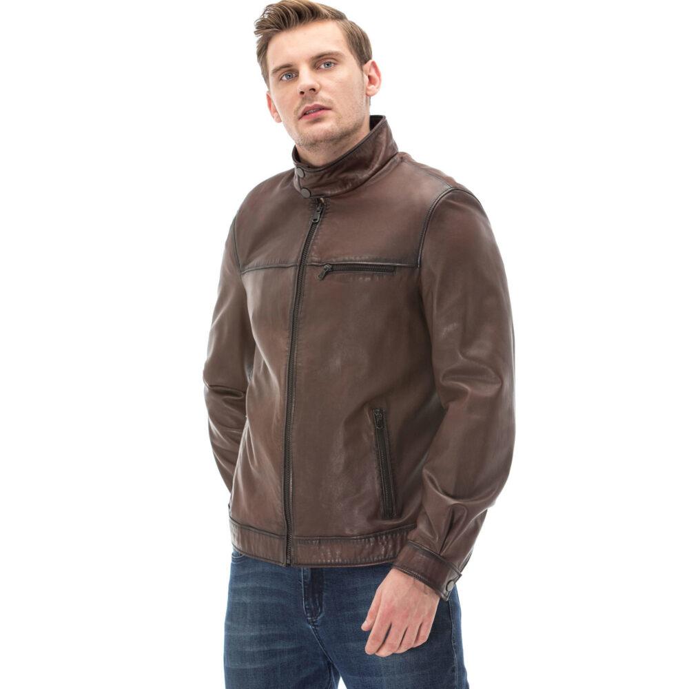 Warm Leather Jacket Mens