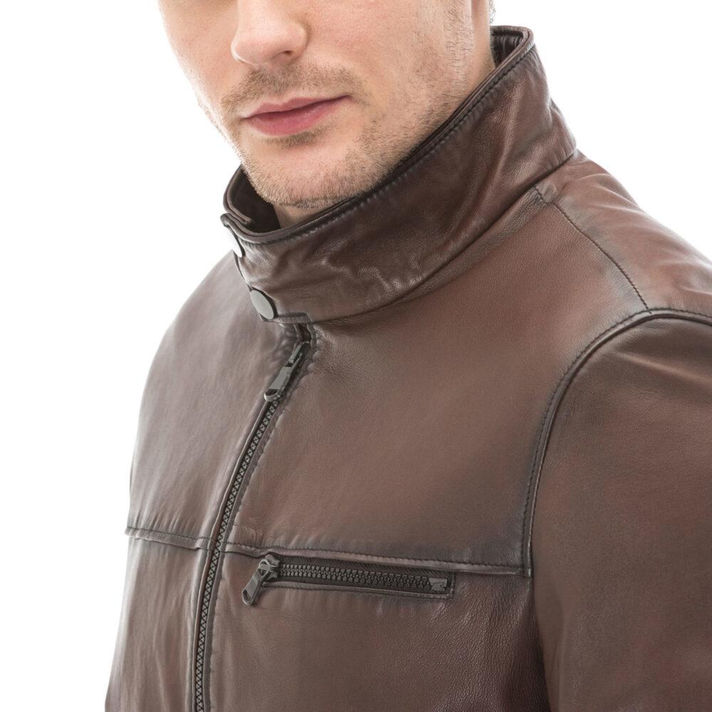 Allsaints Leather Jacket Men's