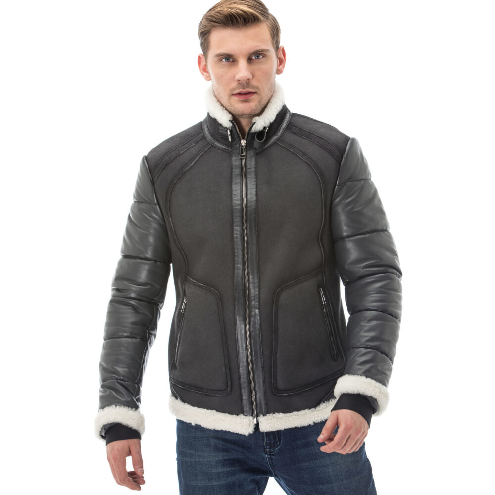 Reiss Leather Jacket Mens