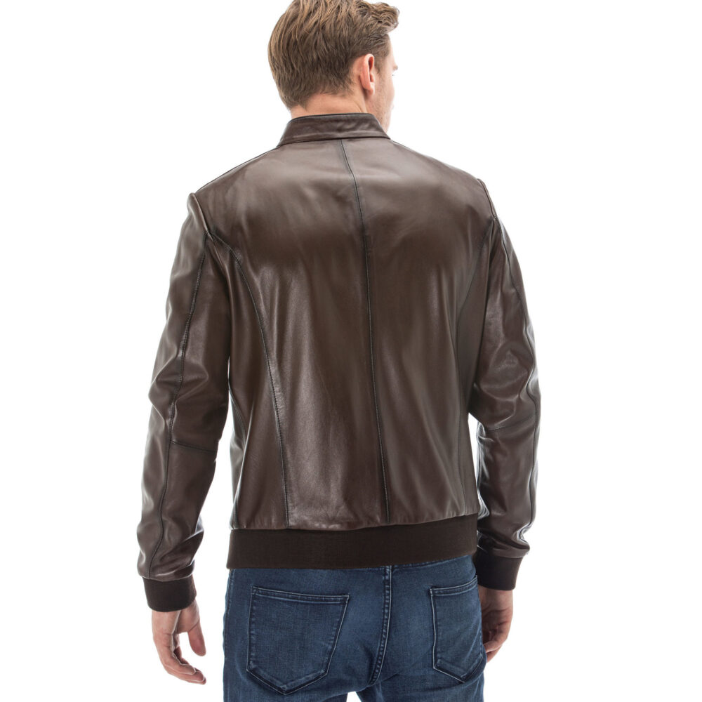 Real Leather Jacket Brown