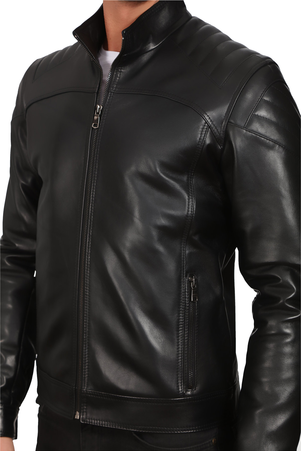 Reiss Mens Leather Jacket
