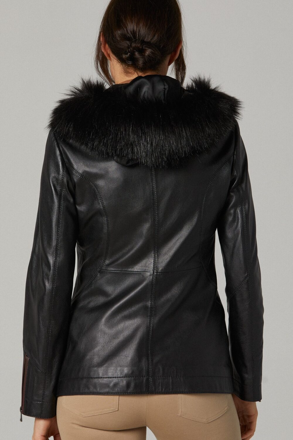 Insulated Leather Jacket Womens