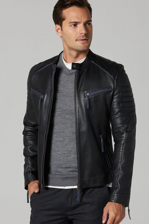 Real Lamb Leather Biker Jacket