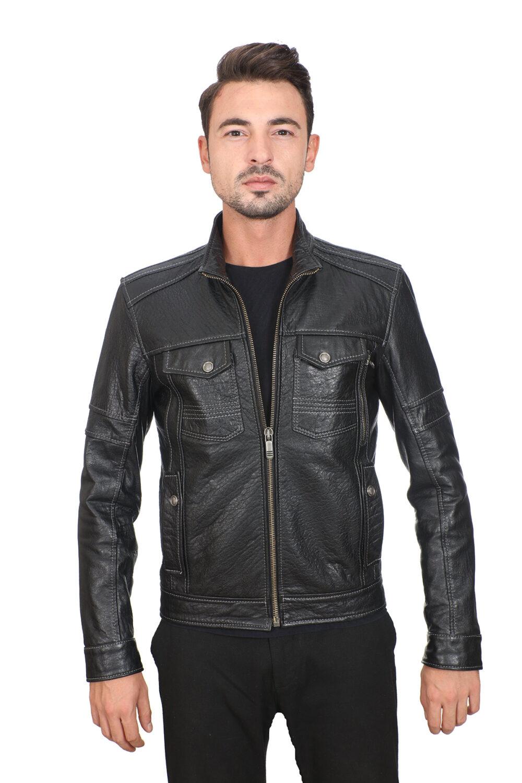 Genuine Leather Motorcycle Jacket
