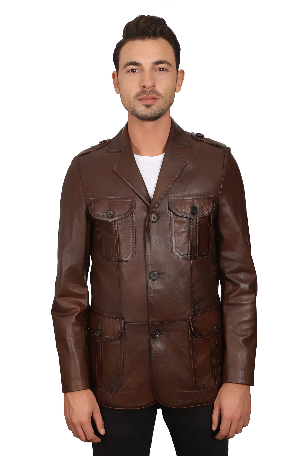 Men's Leather Suit Jacket