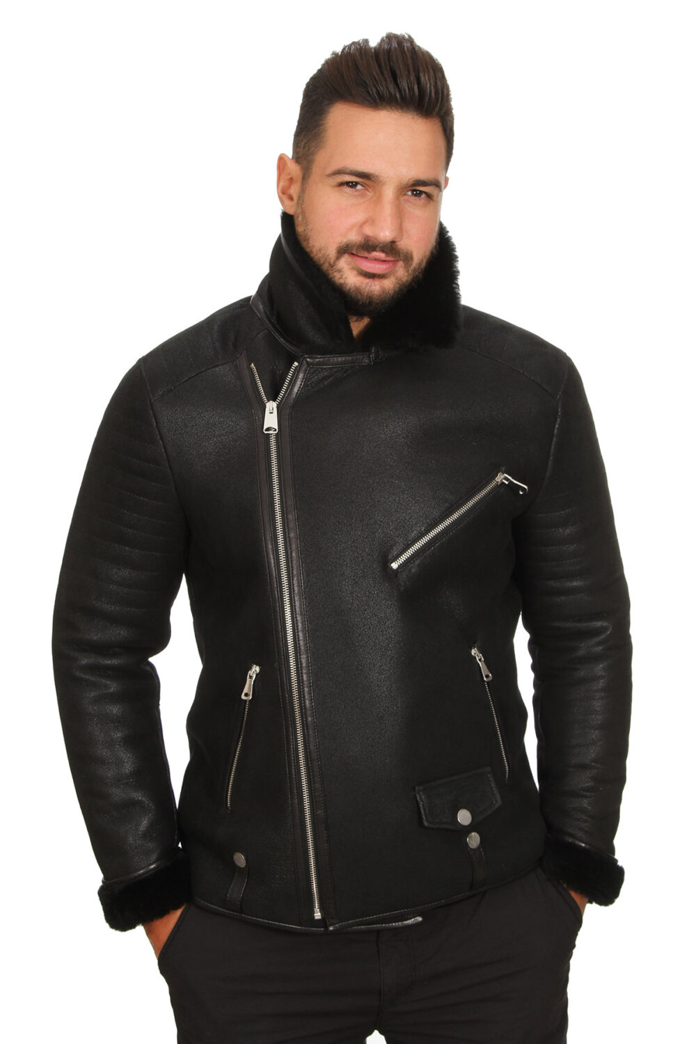 Real Leather Jacket New Look