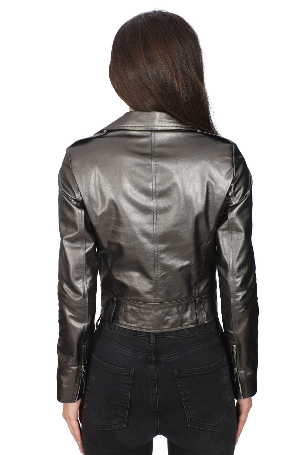 Button Up Leather Jacket