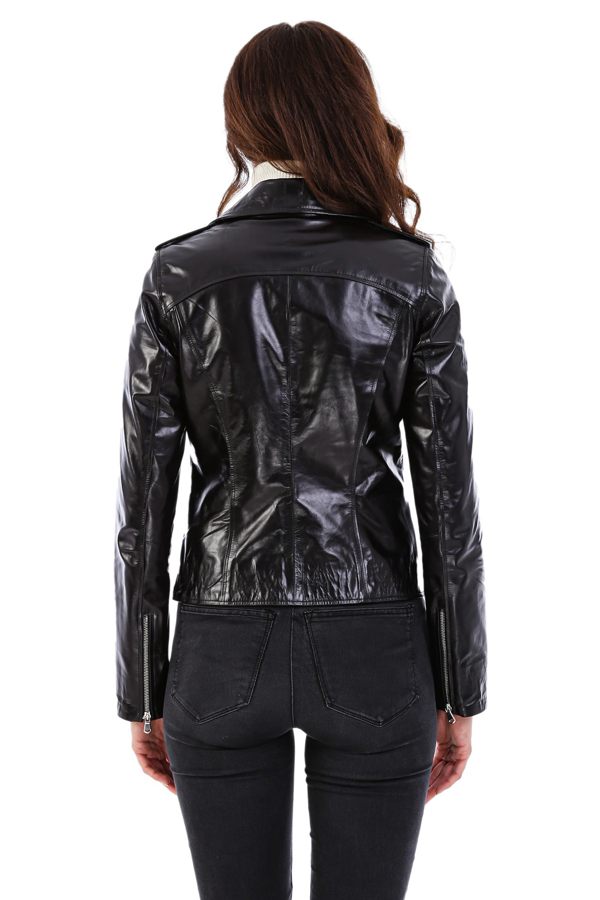100 Leather Jacket Womens