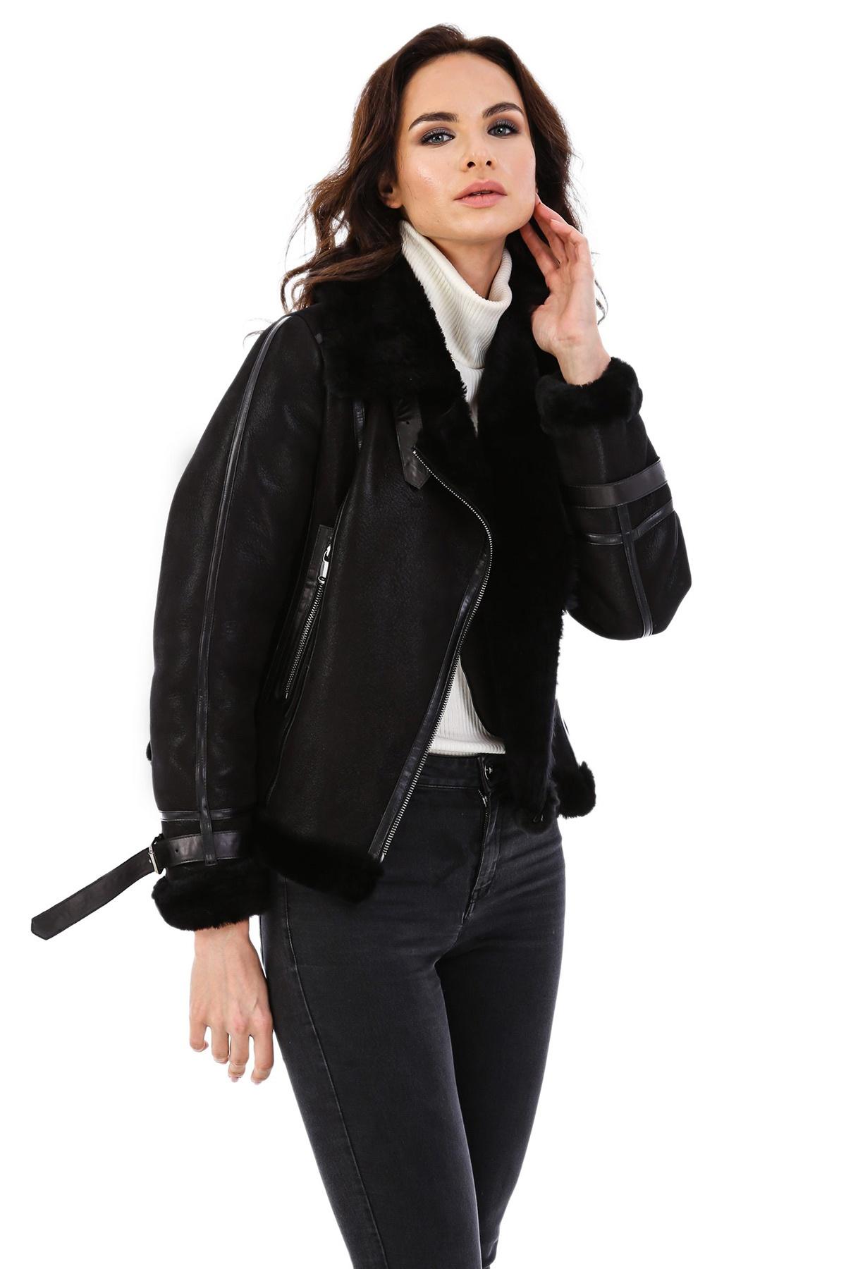 Womens Black Leather Jacket