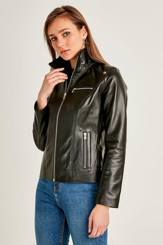 Women's Winter Leather Jacket