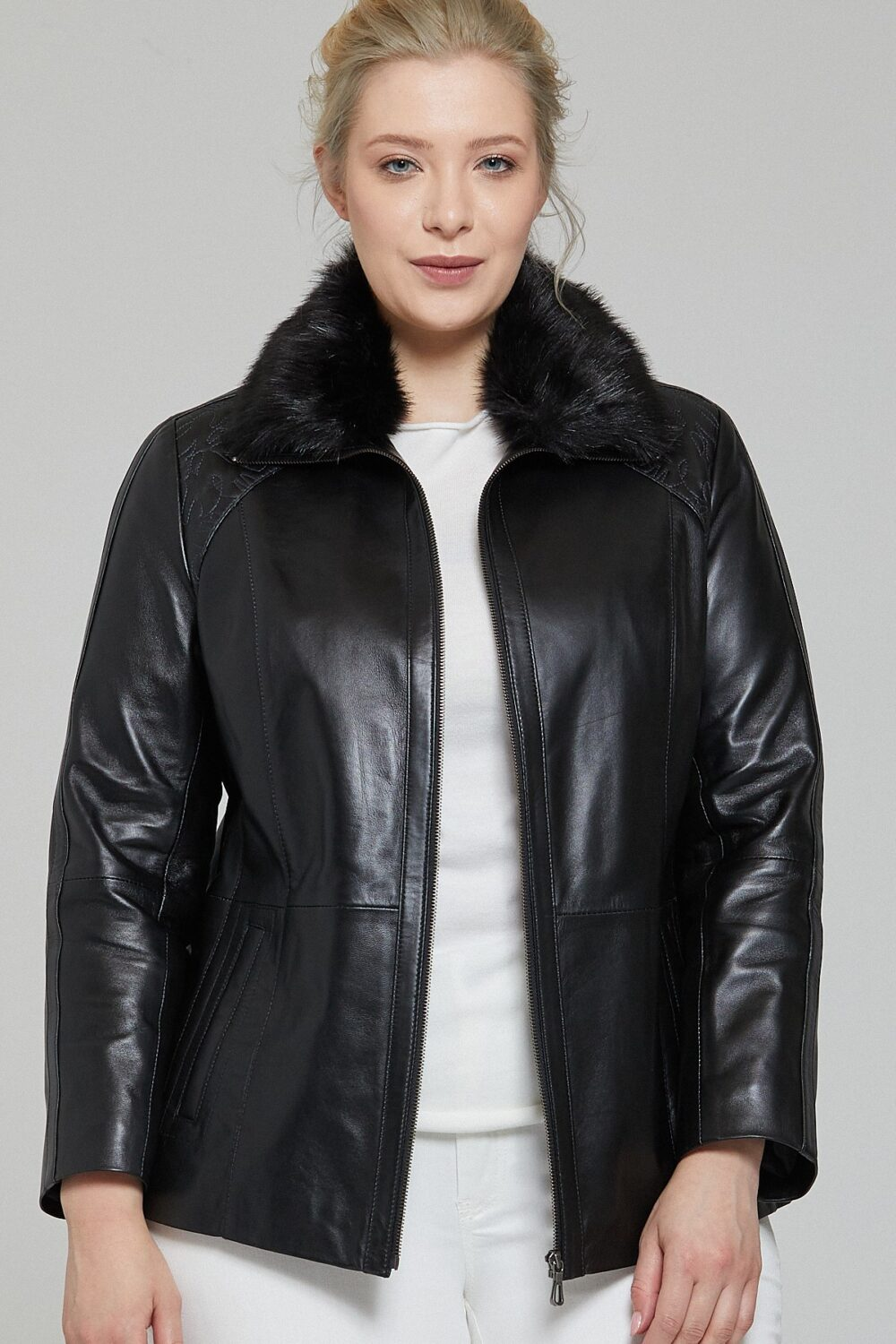 Genuine Leather Jacket Plus Size