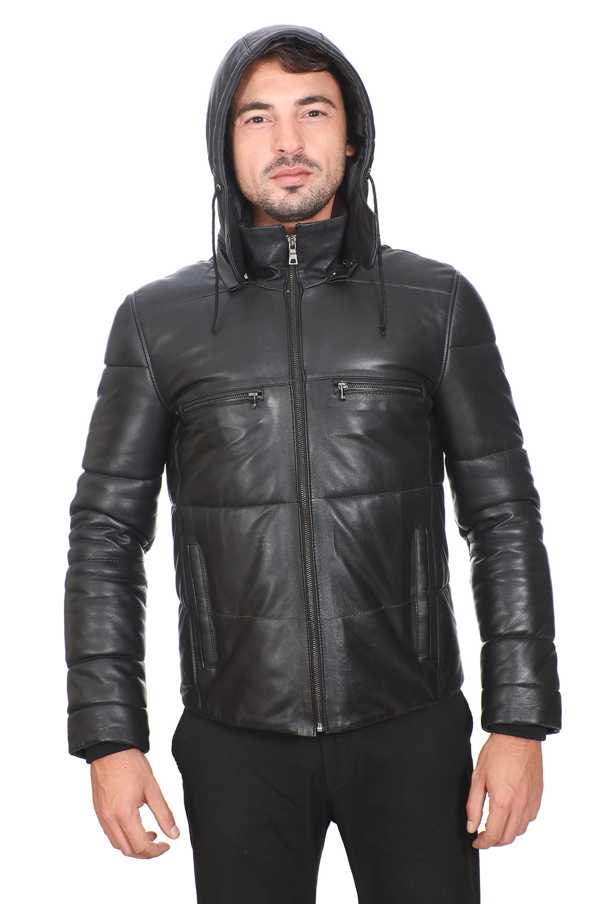 Mens Fitted Leather Jacket