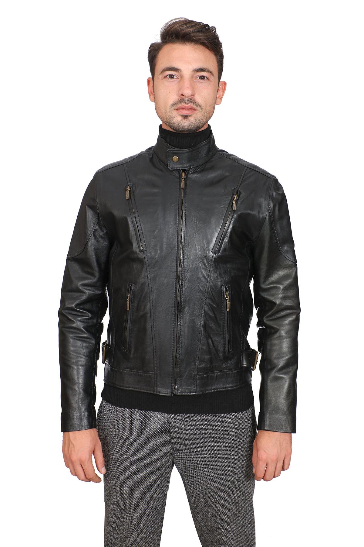 Mens Light Leather Jacket