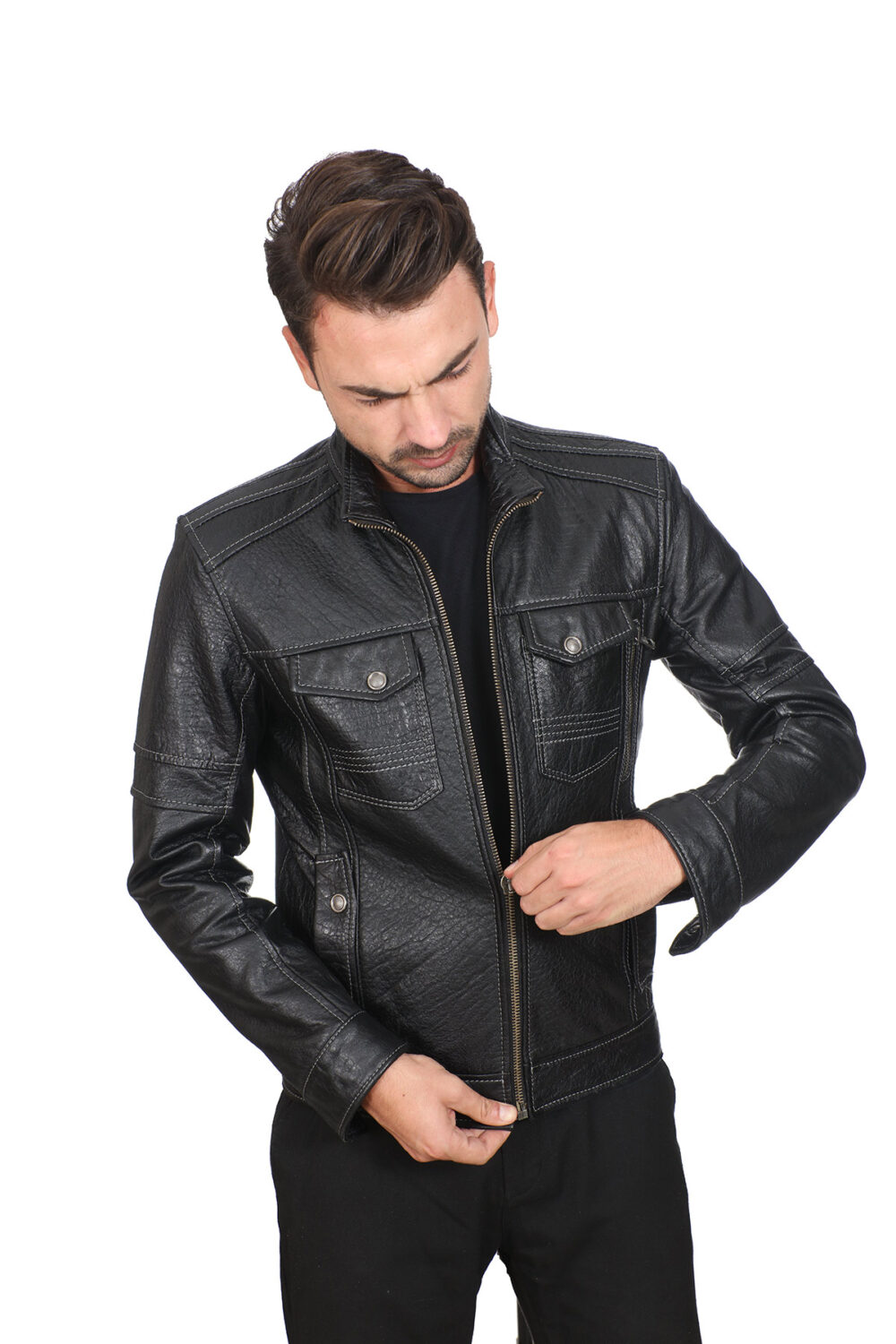 Leather Jacket Mens Cheap