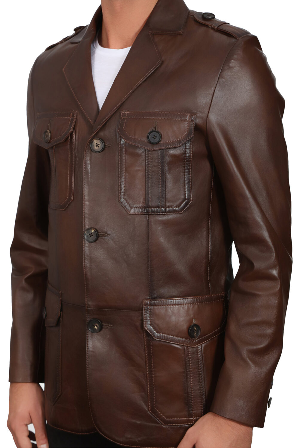 Dark Brown Jacket Mens