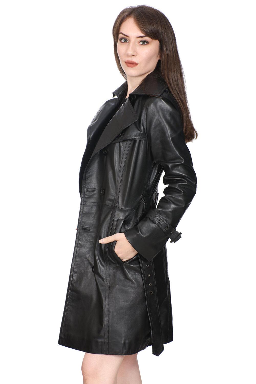 Black Leather Coats Womens