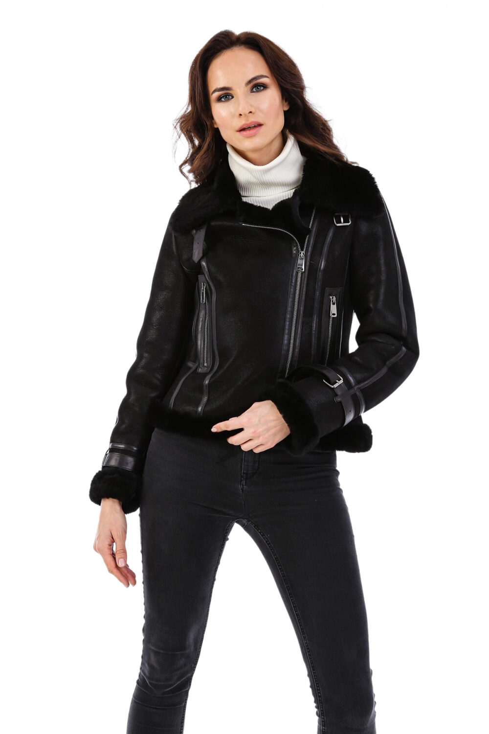 Nordstrom Leather Jacket With Fur