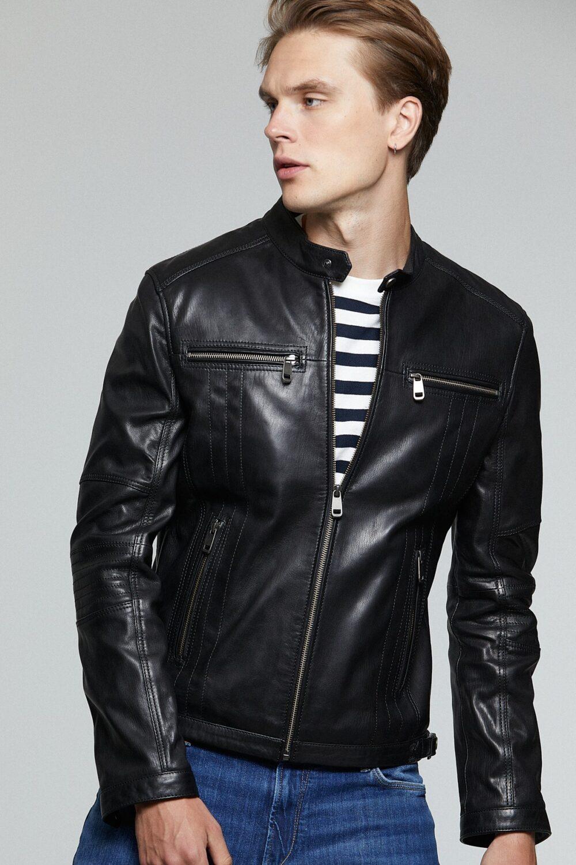 Dockers Leather Jacket Mens