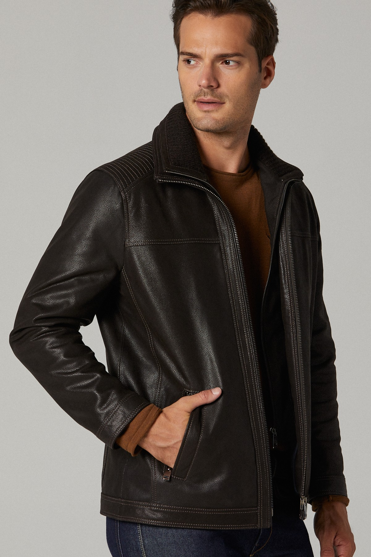 Leather Jacket For Guys