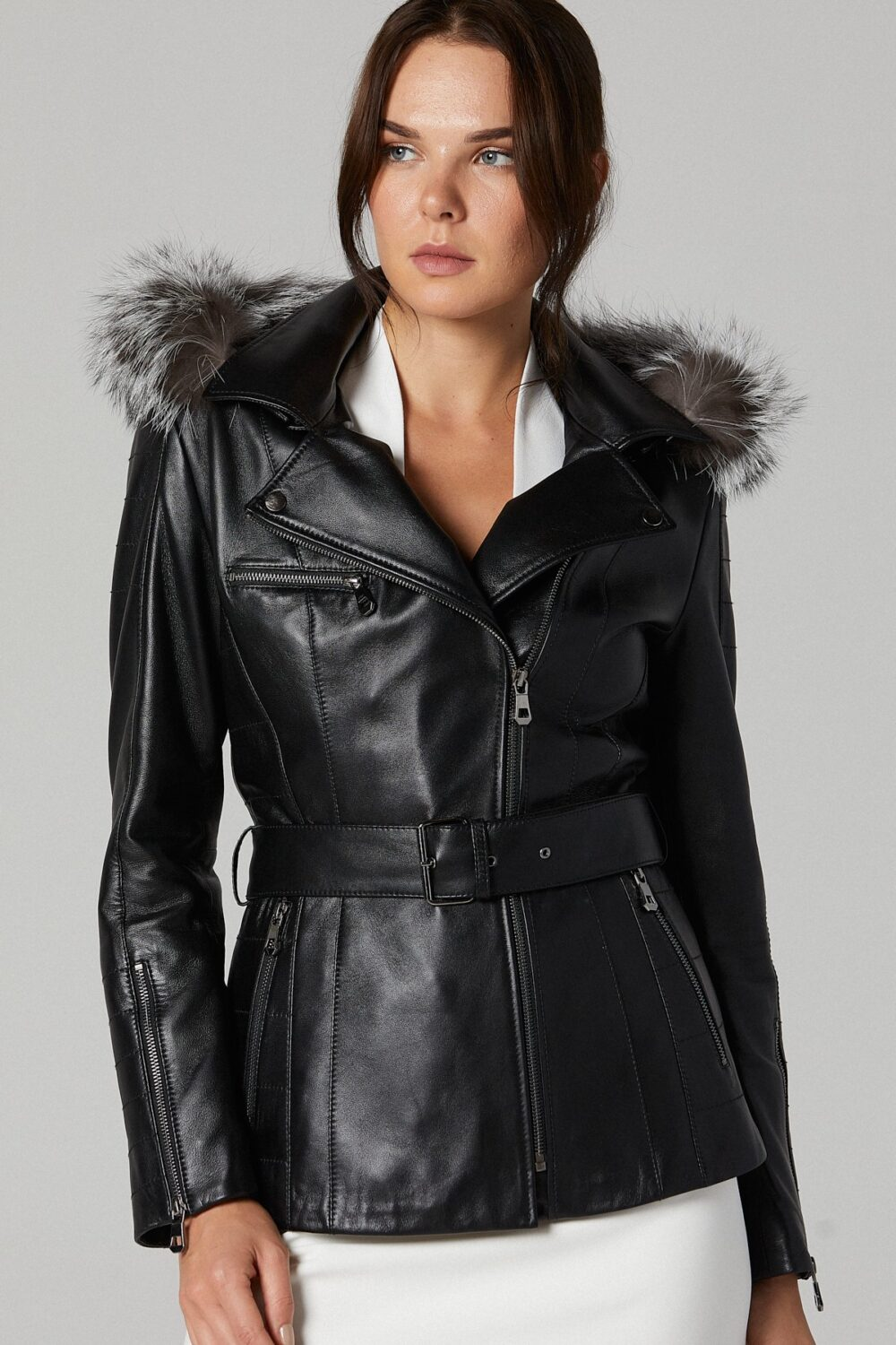 Clubmonaco Womens Leather Jacket