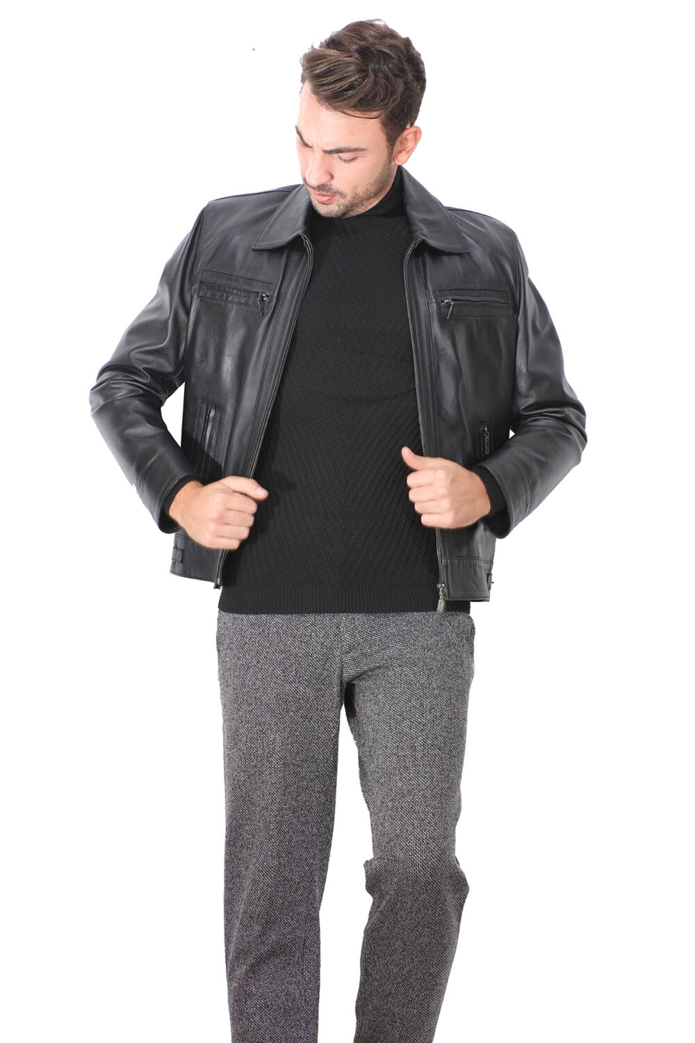 Real Leather Jacket Asos