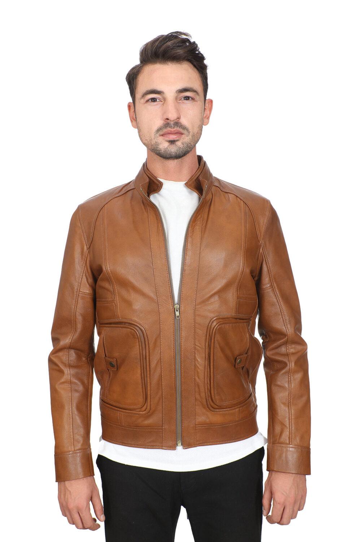 Lambskin Leather Jacket Men's