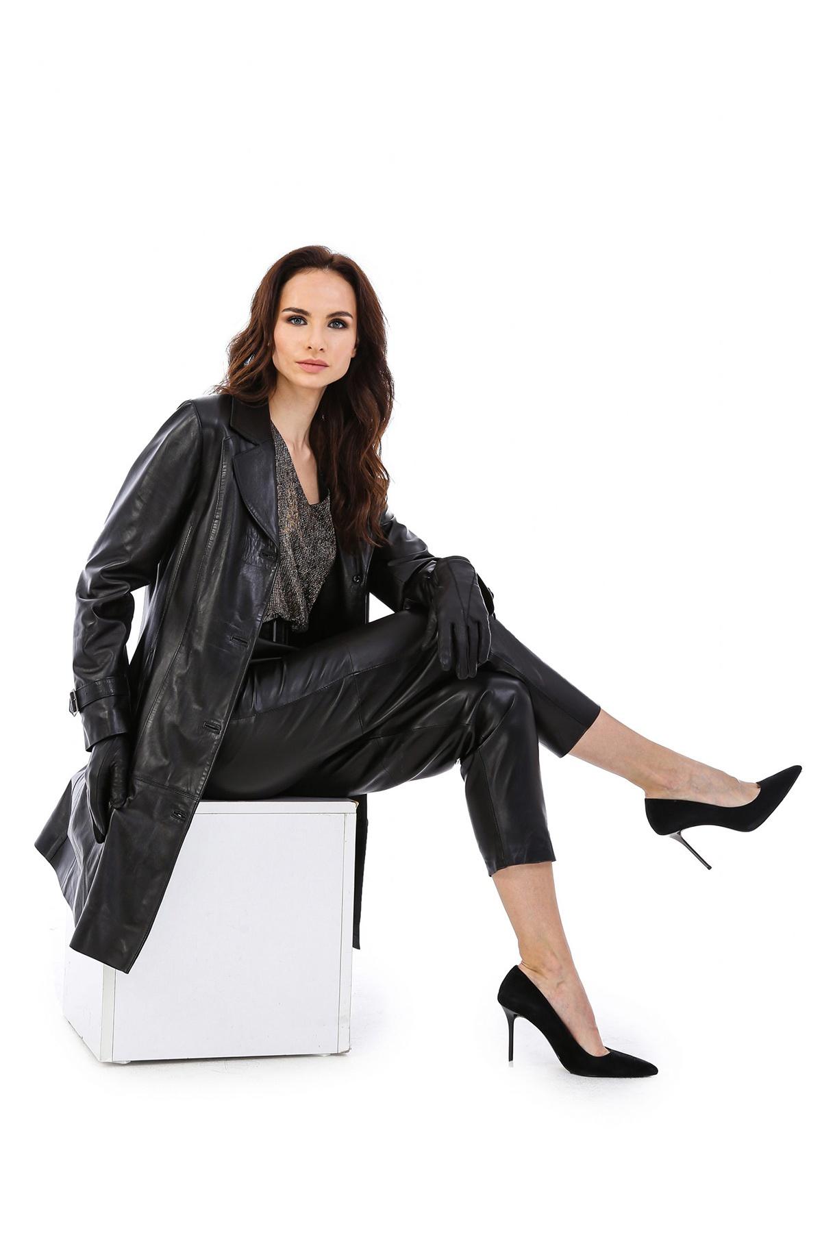 Womens Leather Walking Coat