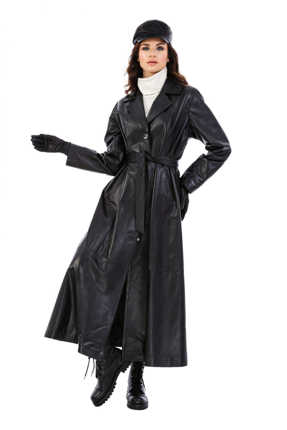Long Leather Coats For Ladies
