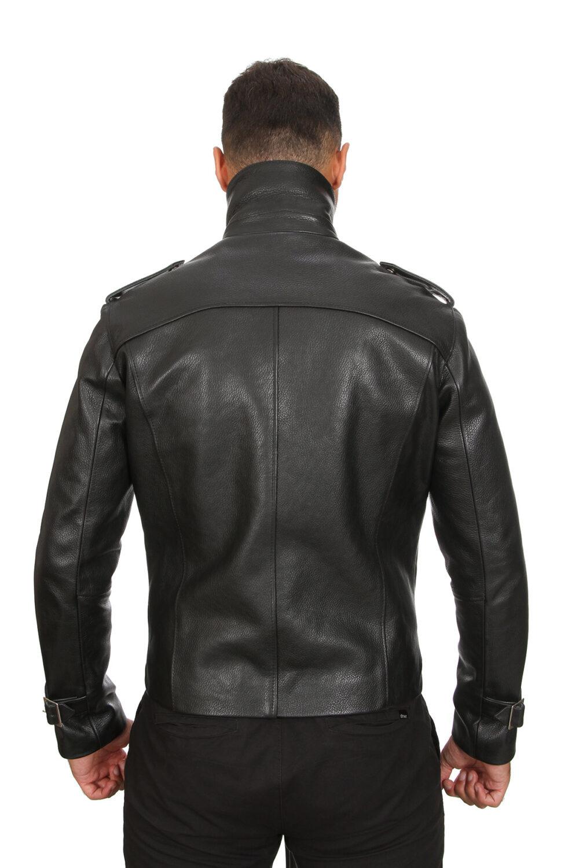 Charcoal Grey Leather Jacket