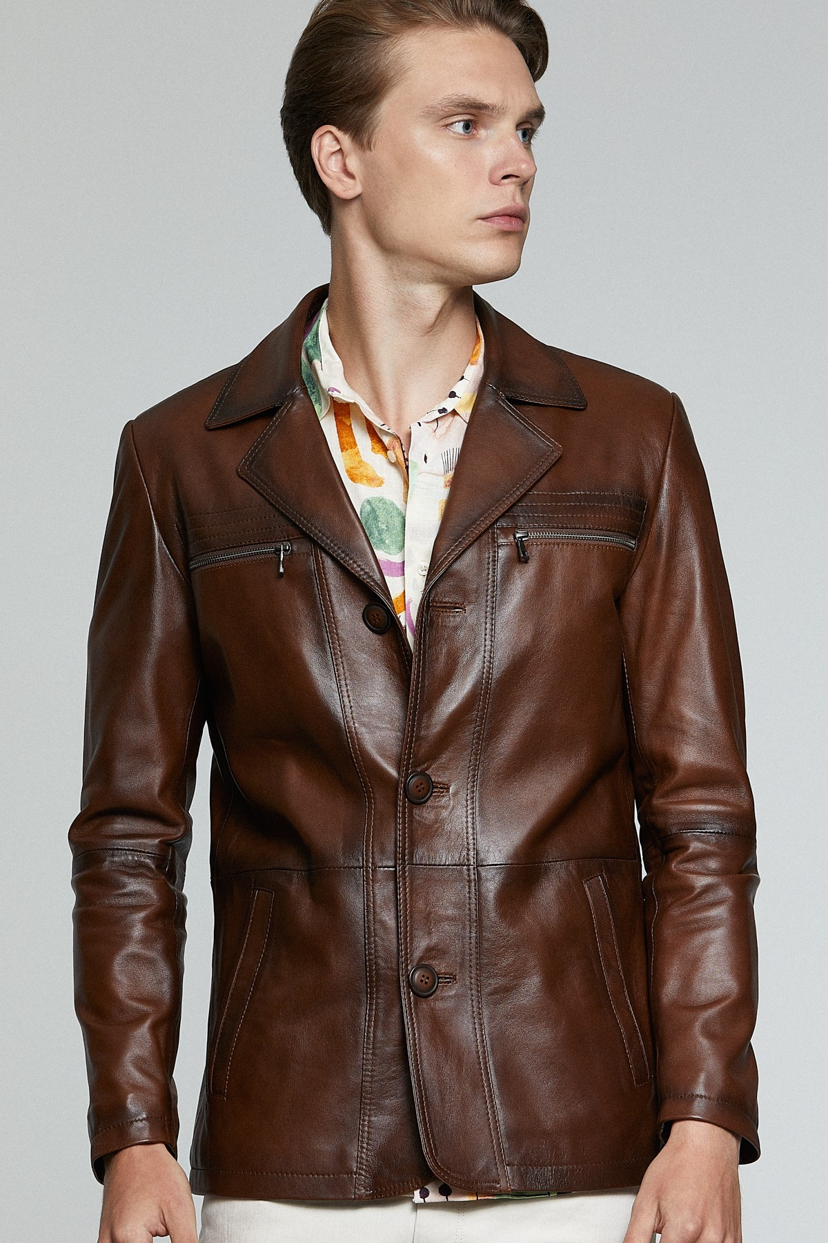 Vintage Dockers Leather Jacket
