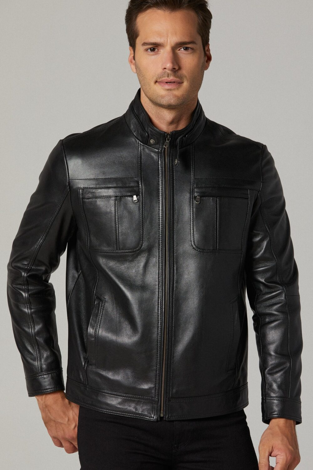 Paul Smith Leather Bomber Jacket Mens