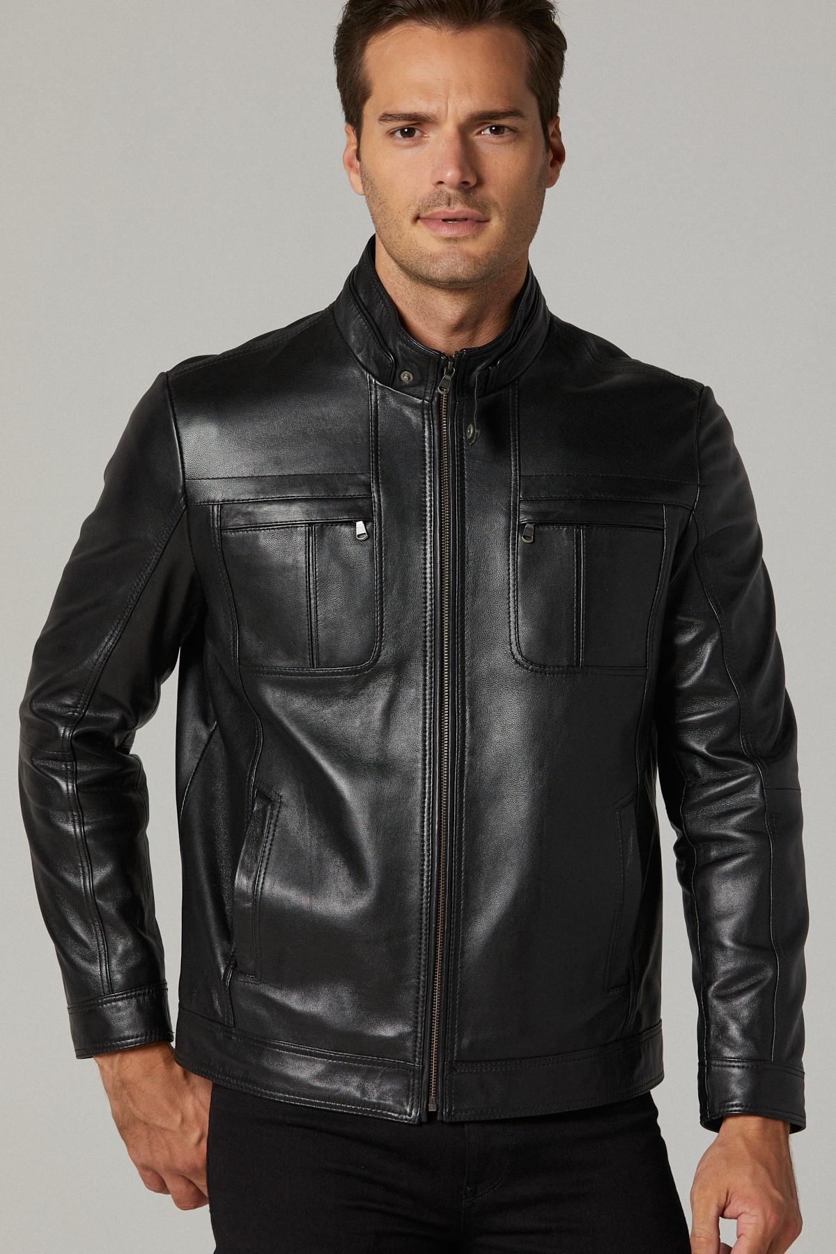 Paul Smith Leather Bomber Jacket Mens