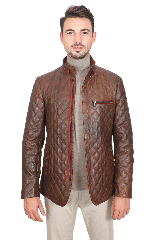 Dockers Leather Jacket Brown
