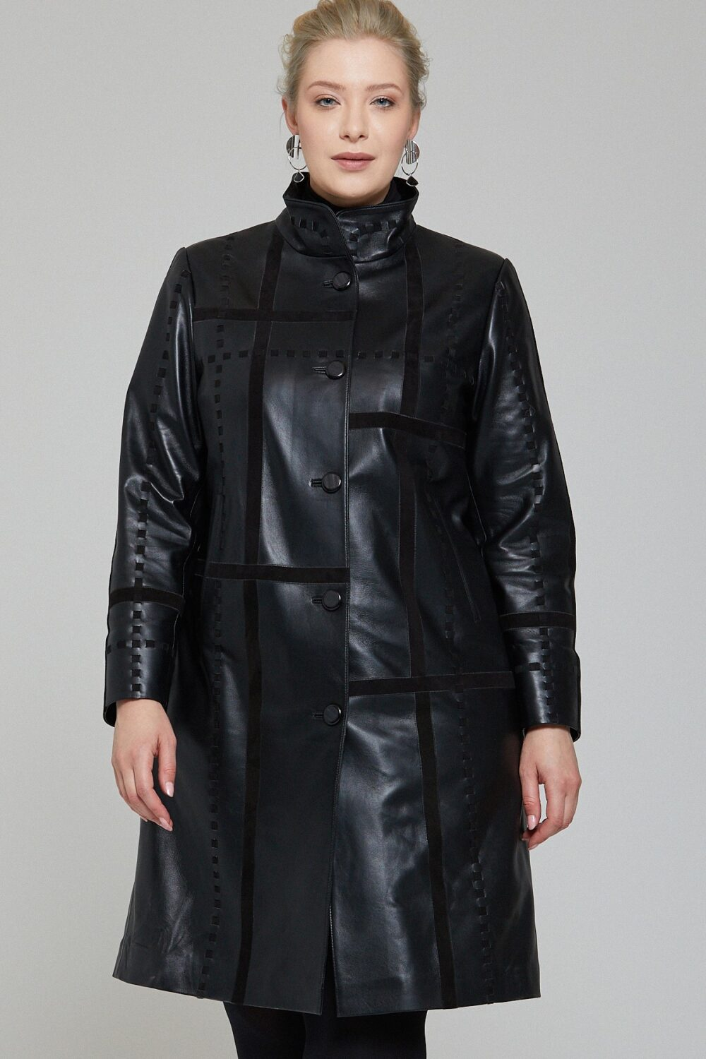 Shearling Lined Leather Jacket Womens