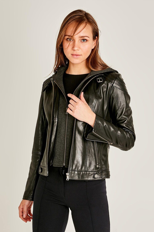Soft Lambskin Leather Jacket Womens