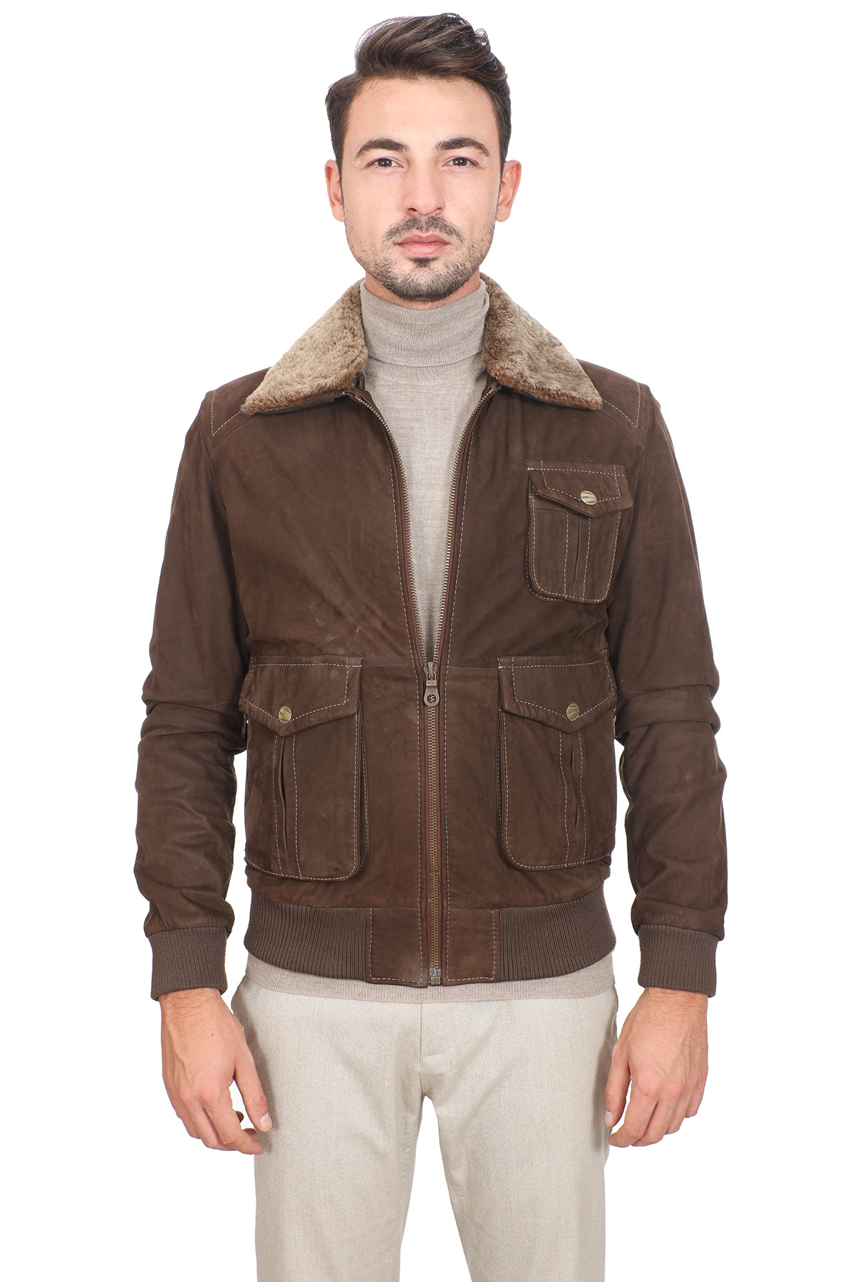 Cheap Brown Leather Jacket