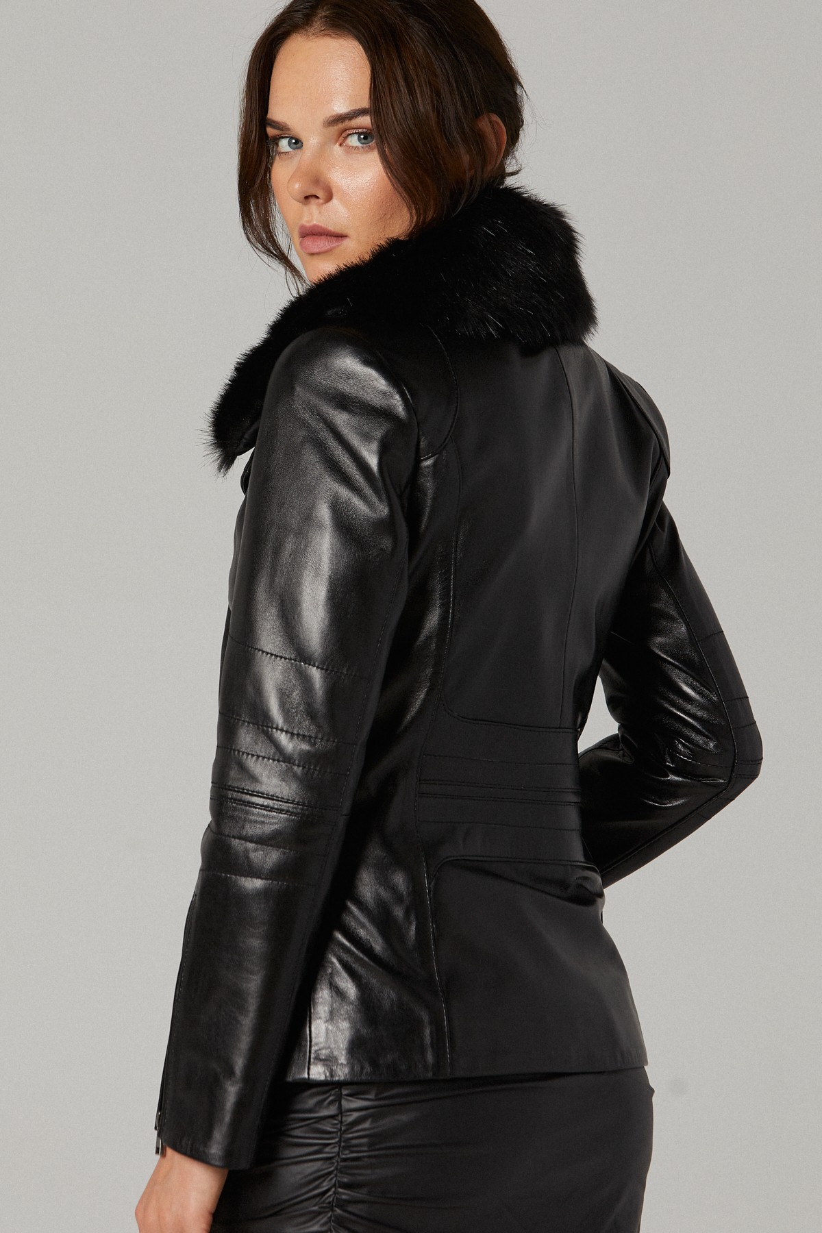 Leather Quilted Jacket