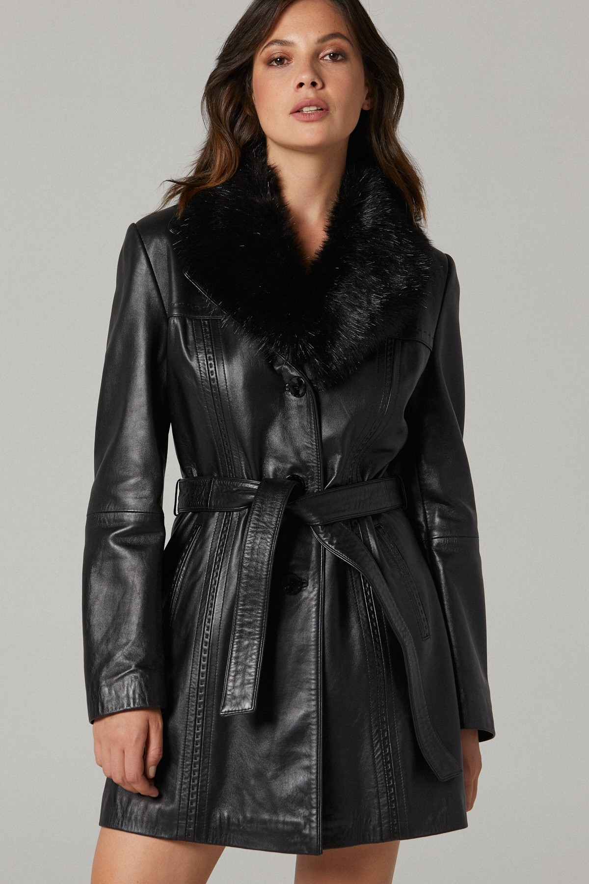 Vintage Leather Coats For Womens
