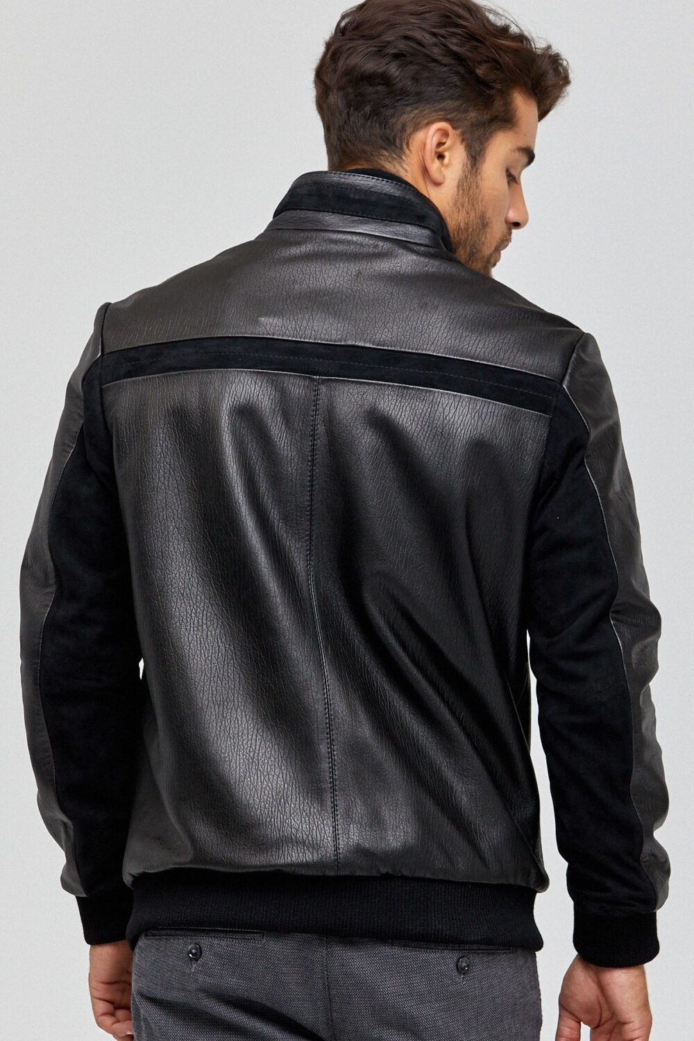 Mens Leather Jackets Windbreaker
