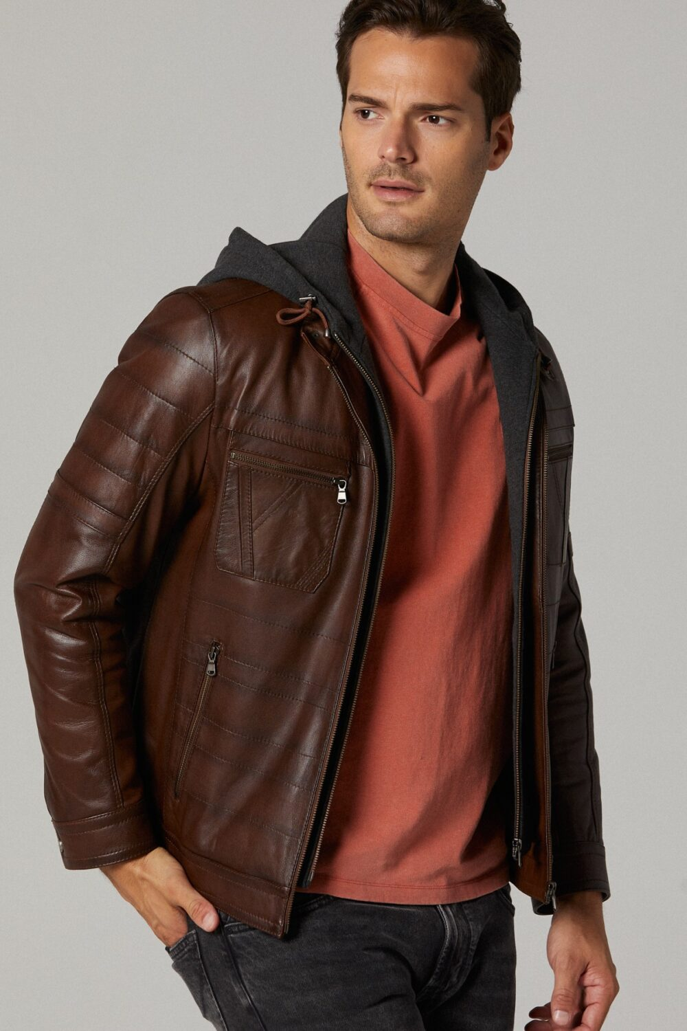 Genuine Leather Jacket Men's