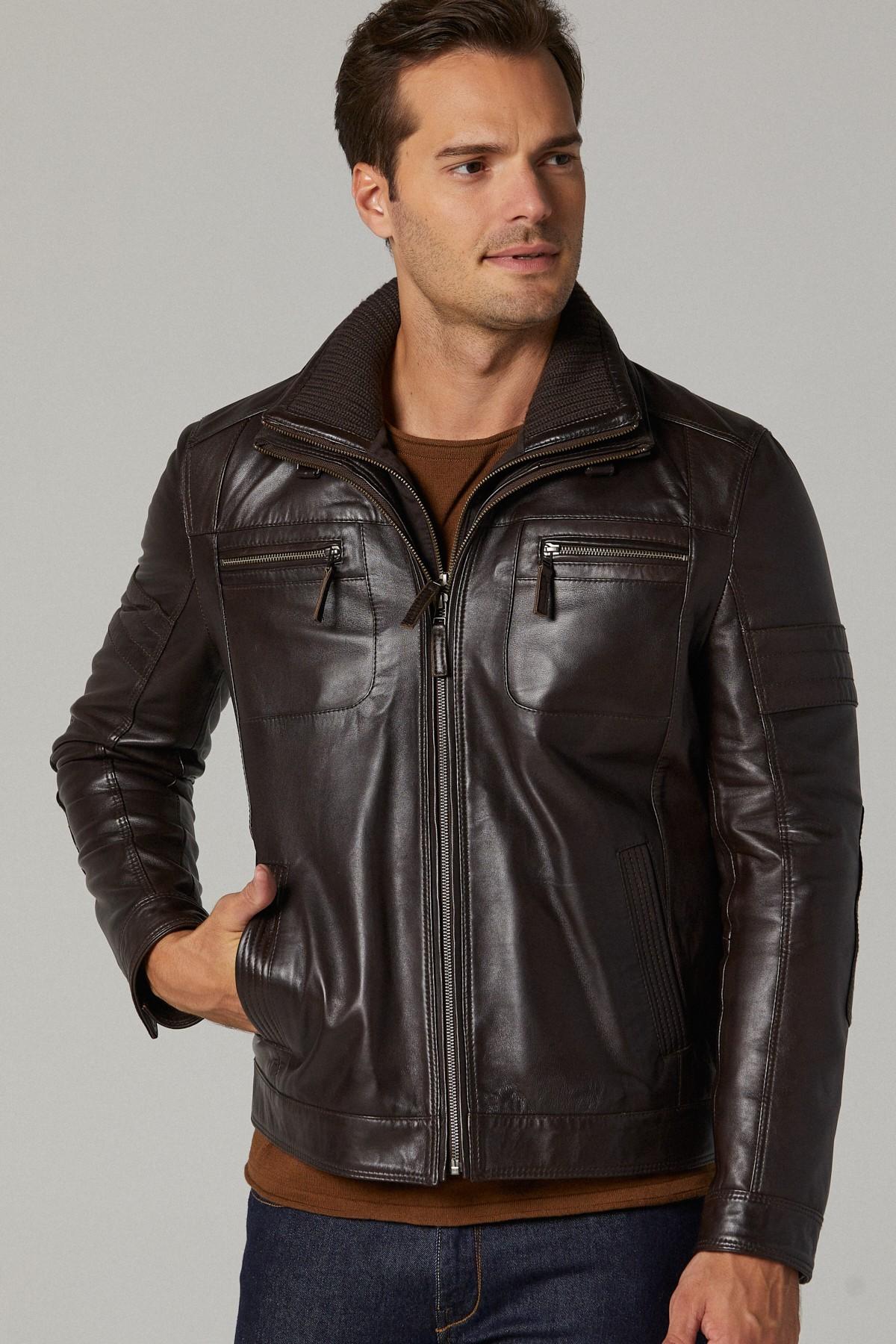 Fendi Leather Bomber Jacket