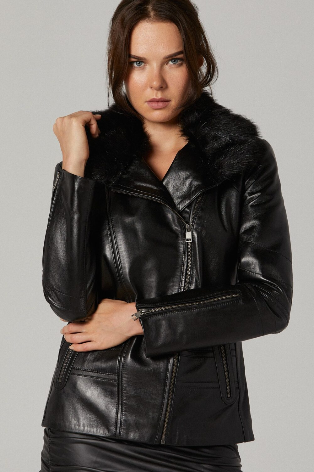 Quilted Leather Jacket Ladies