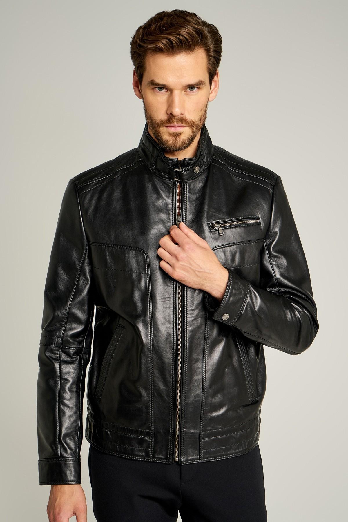 Men's Classic Genuine Leather Jacket