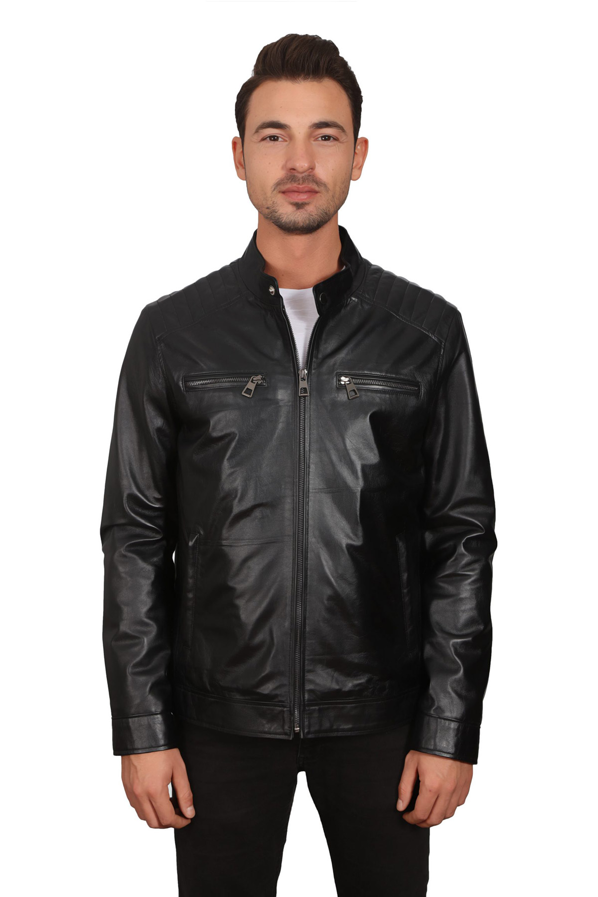 Casual Leather Jacket Men