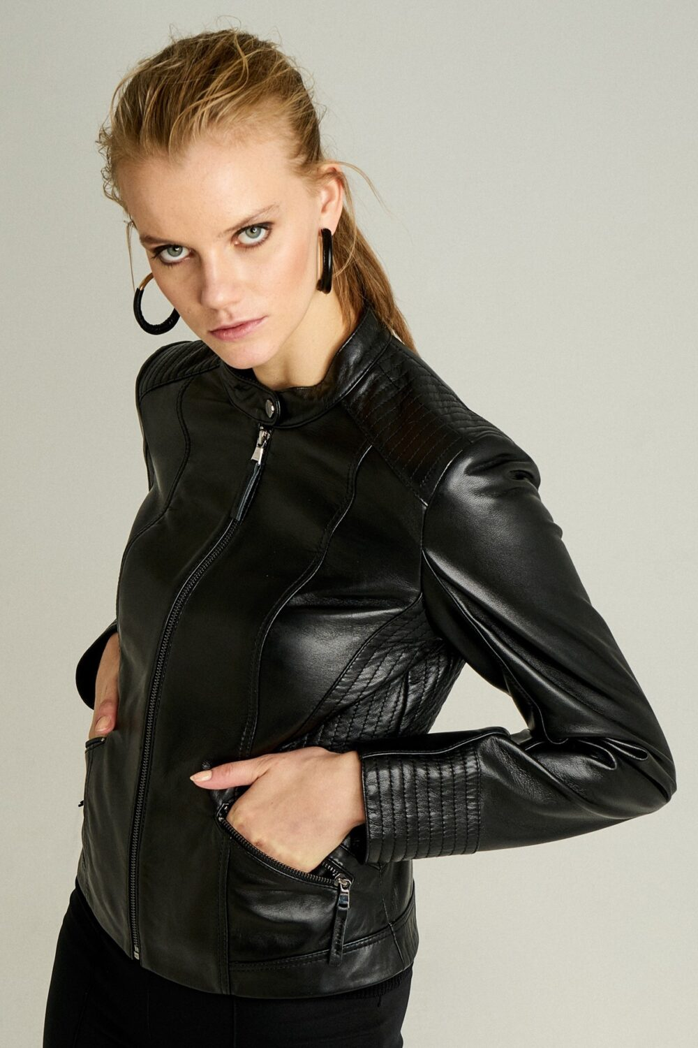 Black Real Leather Jacket