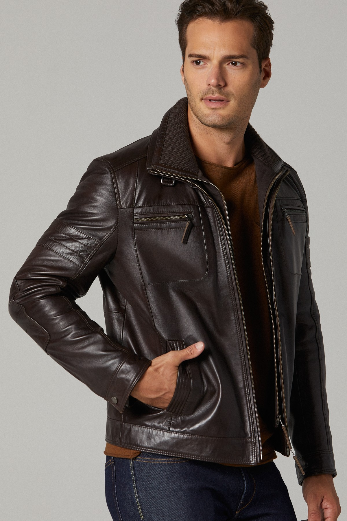 Dockers Mens Leather Jacket